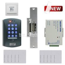 DIYSECUR Full Kit Set 125KHz RFID Password Keypad Access Control System Security Kit + Electric Strike Lock V2000-C