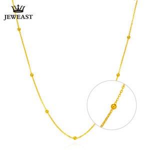 Image 2 - 18k זהב טהור שרשרת לבן צהוב עלה שרשרת חרוזים לנשים ילדה מתנת תכשיטים ניו חמה למכור יוקרתי למעלה טוב נחמד כמו