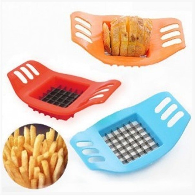 Kitchen Supplies Stainless Steel Vegetable Potato Slicer Cutter Making Tool Potato Cutting Fries Tool