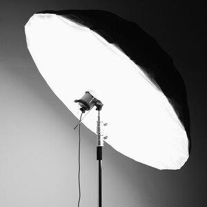 Image 3 - Godox студийный фотографический Зонт 60 дюймов 150 см черный серебристый отражающий зонт + большой диффузор для студийной съемки