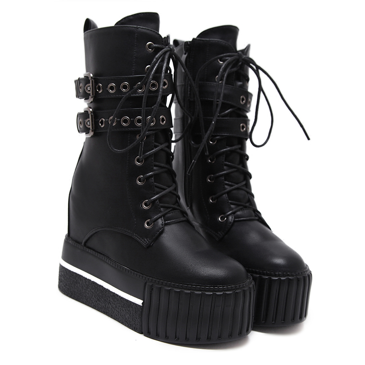 New Thick Bottom Boots 2019 Autumn And Winter Women's High Boots Ins Martin Women Boots