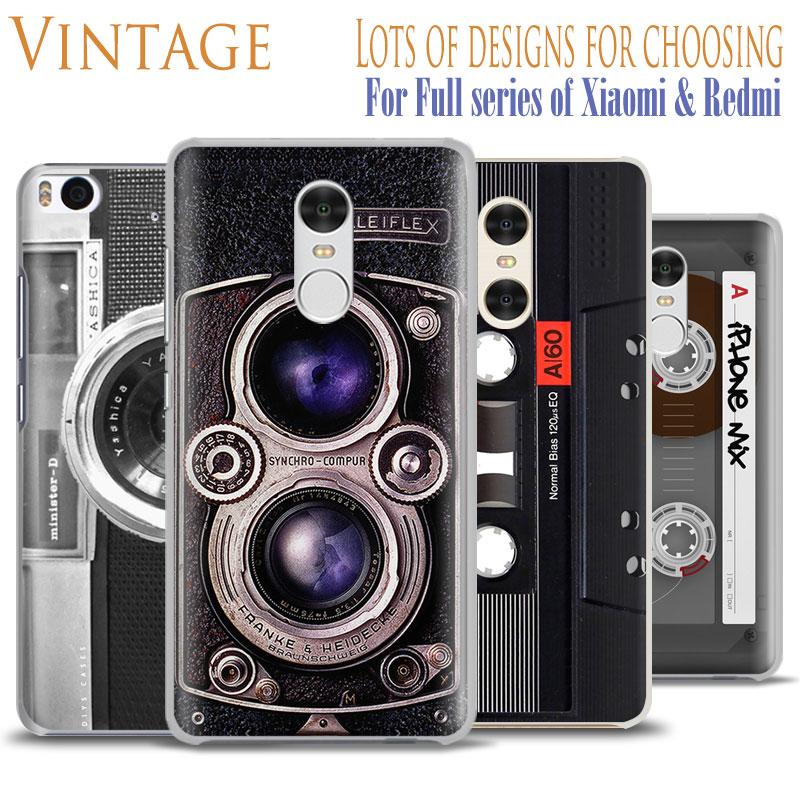Retro Dual Camera Magnetic Tape Phone Case Shell For Xiaomi Redmi Note 2 3 4 4X 5A 5 Pro Mi 8 5 5S Plus 5X 6 MiA1 Minote 2 3