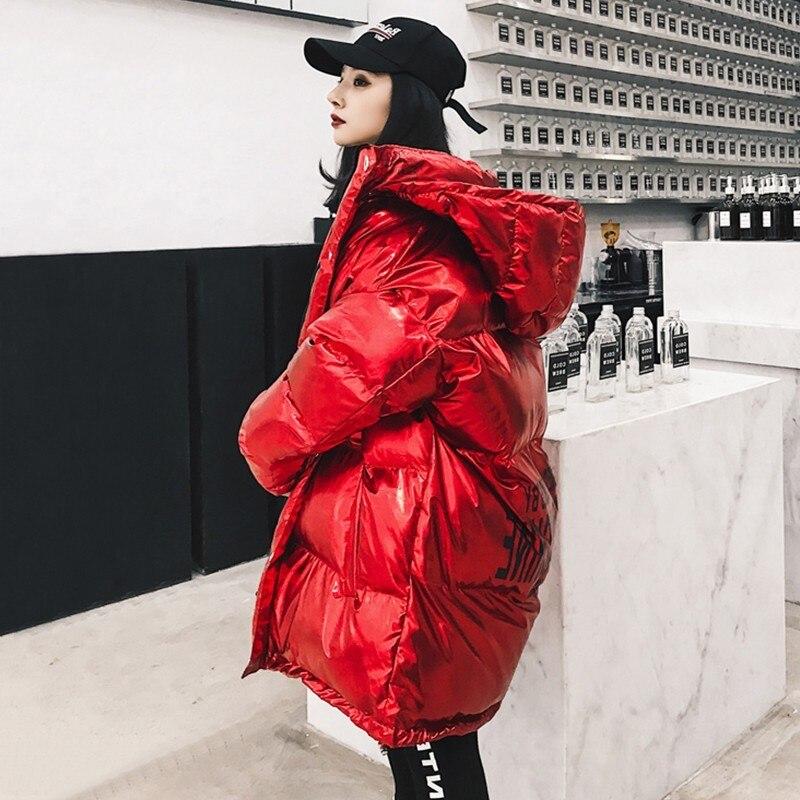 Korean Women Jacket Winter Thick Clothes Plus Size Parka Hat Snow Wear Cotton Padded Coat Female Loose Oversize Outerwear B137