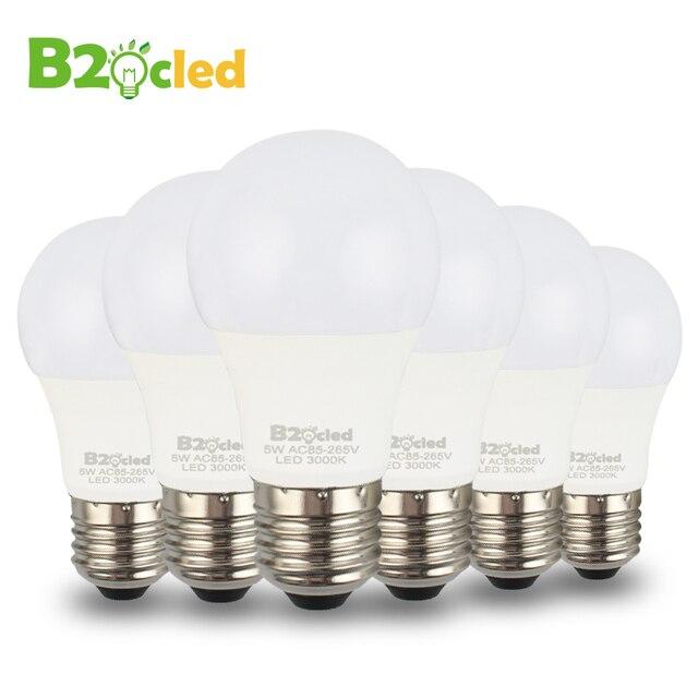 6pcs high quality led bulb lamp cri 90 e27 3w 5w ac 110v 220v 85