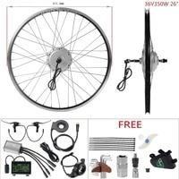 DIY Ebike 36V 350W 26'' Rear Wheel Hub Motor Kit Electric Bicycle Conversion Kit bicicleta electricas motocarro electrico