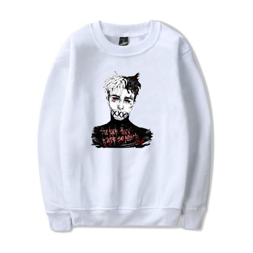 Xxxtentacion Lustige Hoodie Sweatshirt Männer/frauen Casual Pullover Streetwear Capless Sudadera Hombre Harajuku Crewneck Hoodies Herrenbekleidung & Zubehör