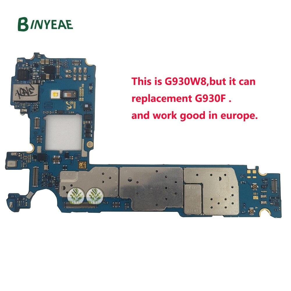 BINYEAE Desbloqueado Motherboard Principal Substituição Para Samsung Galaxy S7 G930W8/G930F Desbloquear Europa GSM 32 gb