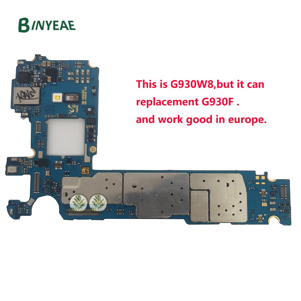 BINYEAE Unlocked Main Motherboard Replacement For Samsung Galaxy S7 G930W8 G930F Unlock Europe GSM 32GB