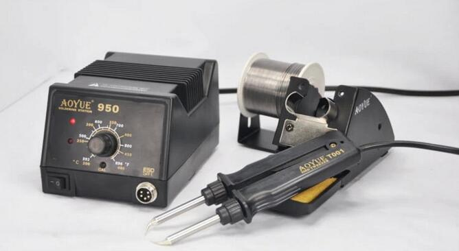 ФОТО Aoyue 950 SMD Hot Tweezer Repair rework station,SMD Hot Air Soldering Station/Machine,available in 220V