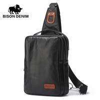 Bison Denim Genuine Leather Men S Cross Body Bag Soft Cowhide Casual Sport Chest Sling