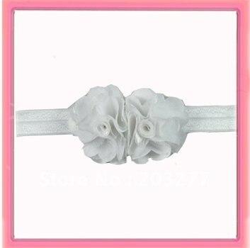 3/4 ''широкий Блестящий эластичный детский ободок с 2,5 цветы из сатина 7 цветов на выбор