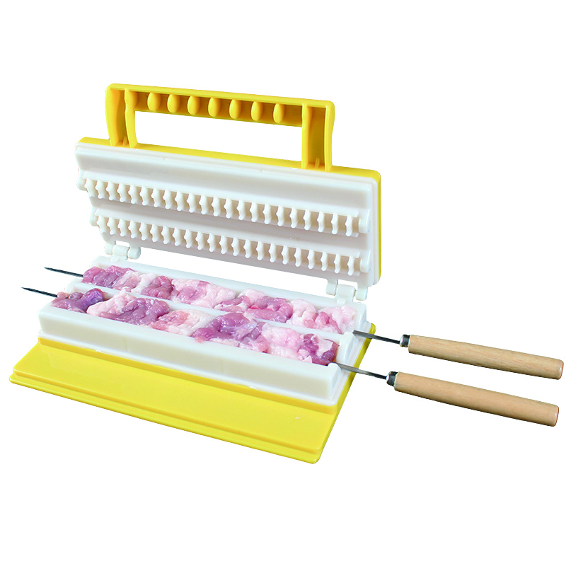 Clever Barbecue skewer machine BBQ Kebab Maker Meat Brochettes Skewer Machine Bbq Grill Accessories Tools Set