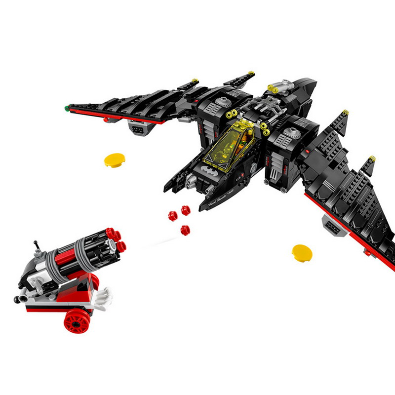 07080 LEPIN Super Heroes Batman Series The Batwing Model Building Blocks Enlighten DIY Figure Toys For Children Compatible Legoe