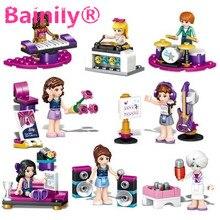 [Bainily] 1 шт. Музыка Друзья Девушки Серии Building Blocks Гитара Фортепиано Drum kit Детские Игрушки Кирпичи НЕТ BOX