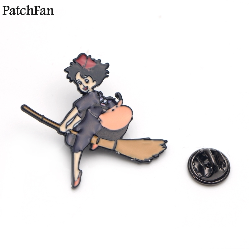 Audacious 20pcs/lot Patchfan Kikis Delivery Service Zinc Tie Cartoon Funny Pins Backpack Clothes Brooches For Men Women Hat Badges A1588 Curing Cough And Facilitating Expectoration And Relieving Hoarseness Apparel Sewing & Fabric Badges