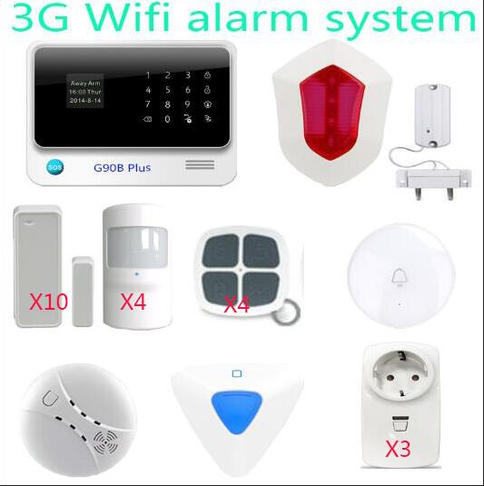 Home Design G90B Plus WiFi 3G GSM Alarm System Sensor kit Smart Home Arm Disarm Alarm system APP Remote Control