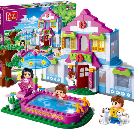New Original Banbao City Girls Dream House Building Blocks Sets 405pcs Building Bricks Toys Compatible Legoe