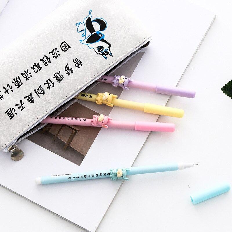 0.5mm Leuke Cartoon 3d Little Pug Shar Pei Gel Inkt Pen Kawaii Schrijven Handtekening Pen Escolar Papelaria School Office Levert Bespaar 50-70%