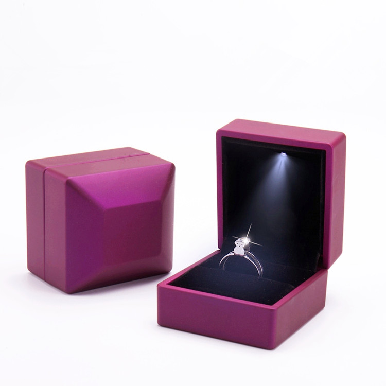 LED Jewelry Box Rubber Painting LED Light Jewelry Box Ring Bracelet