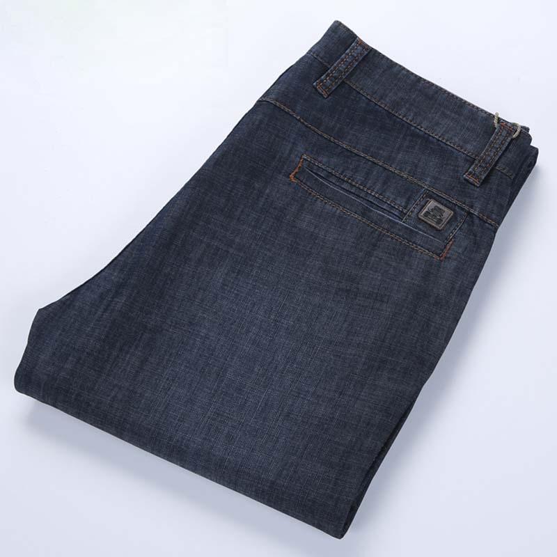 Spring Summer Men's Jeans Cotton Straight Loose Baggy Big Size Jeans Leisure Denim Pants Male Trousers Clothes