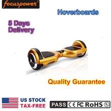 HOT EE.UU. SIN Depósito FISCAL En Stock 2 Ruedas Equilibrio Scooter Monopatín Eléctrico Con luz Led Hoverboard oro
