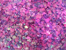 Candy rose purple 100g Paille Ultrathin Sequins Mixed Nail Art ROUND Shapes Confetti Acrylic Round Glitter 08