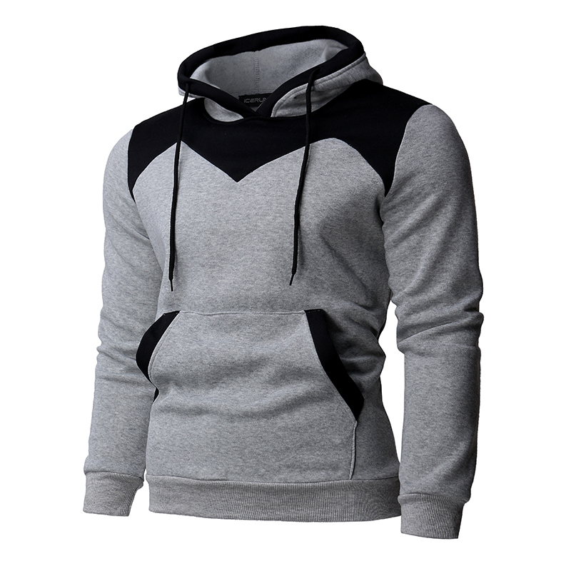INCERUN Mens Hoodie Tracksuits Joggers Slim Fitness Hooded Pullover Autumn Winter Sweatshirt Mens Clothing Hombre Outwear Jumper