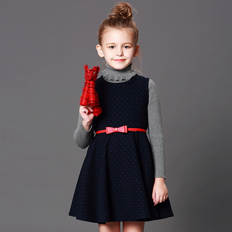 SPSHOW Girls dresses spring and autumn 2018 new children's wear vest dress children princess little girl dress цена