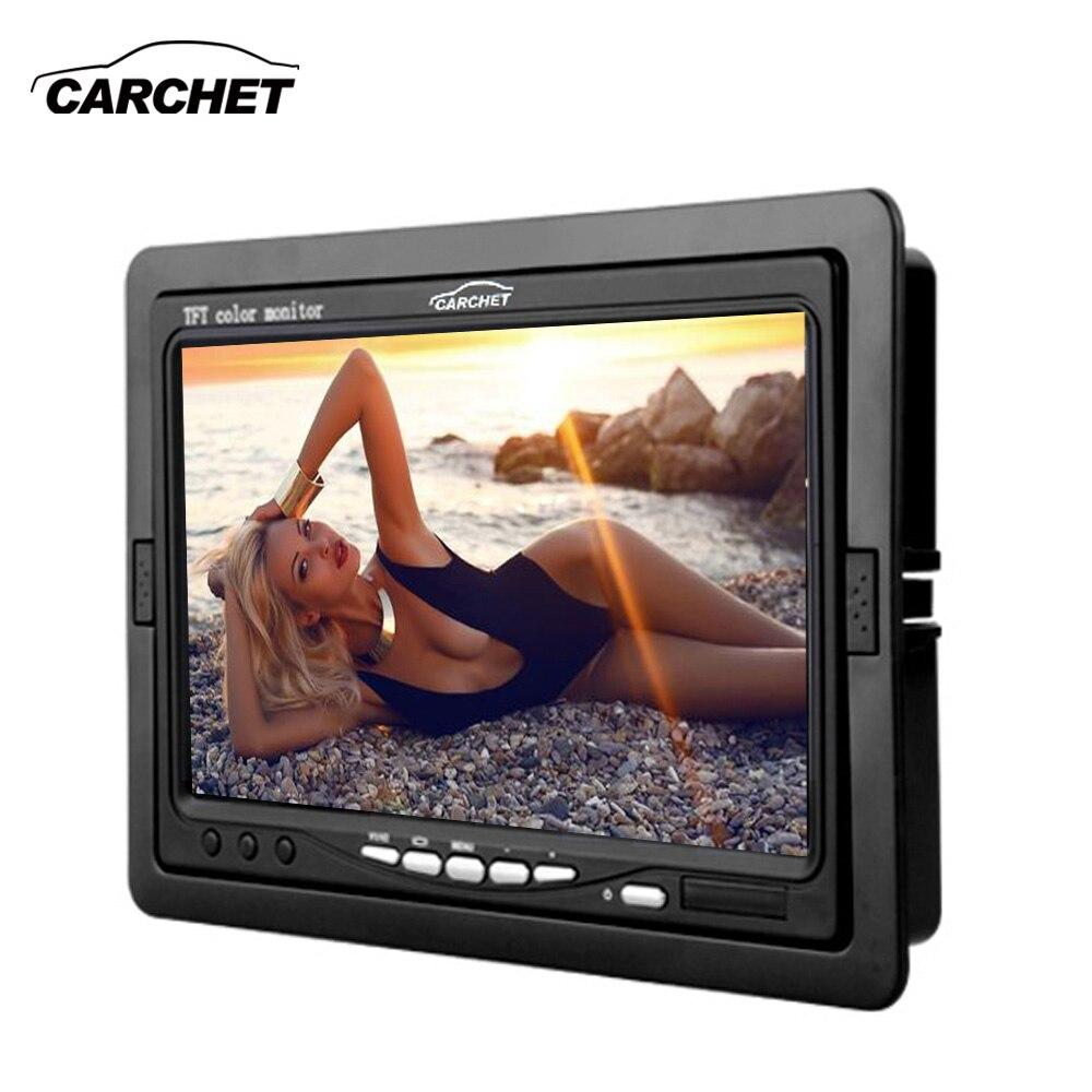 CARCHET Voiture Moniteur 7 pouce TFT LCD Voiture DVD CCTV N ° Caméra de Recul Moniteur PAL NTSC Voiture Moniteurs Caméra DVD DC 12 v 6 w
