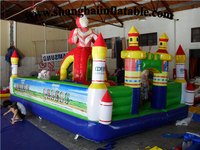 2017 New Inflatable Bouncy Fun City inflatable fun city,inflatable kids play ground