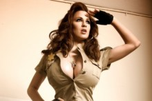 Home decoration Jordan Carver in Meet The New Hot Sheriff open shirt big boobs sexy woman Silk Fabric Poster Print RW072