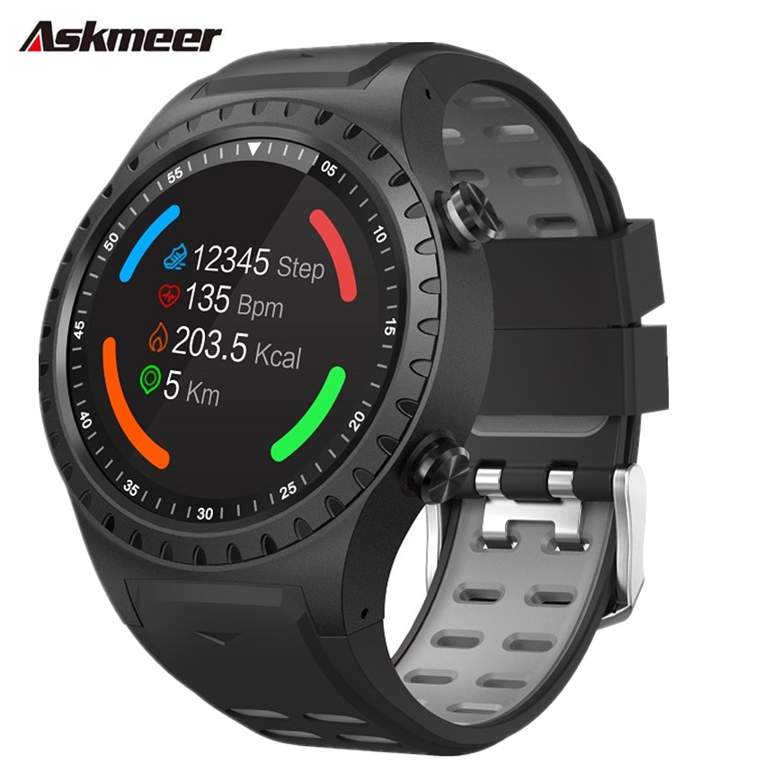 ASKMEER M1 Smart watch 1.3'' Fitness tracker Watches Answer Calls heart rate monitor Bluetooth connection For IOS & Android
