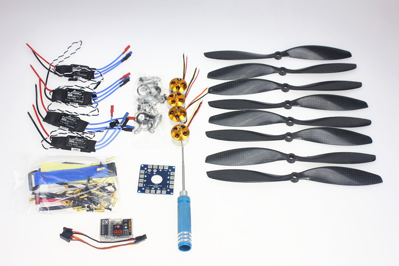 F02015-D 4 Axis Foldable Rack RC Quadcopter Kit with QQ Super Flight Control+1000KV Brushless Motor + 10x4.7 Propeller + 30A ESC f02015 f 6 axis foldable rack rc quadcopter kit with kk v2 3 circuit board 1000kv brushless motor 10x4 7 propeller 30a esc