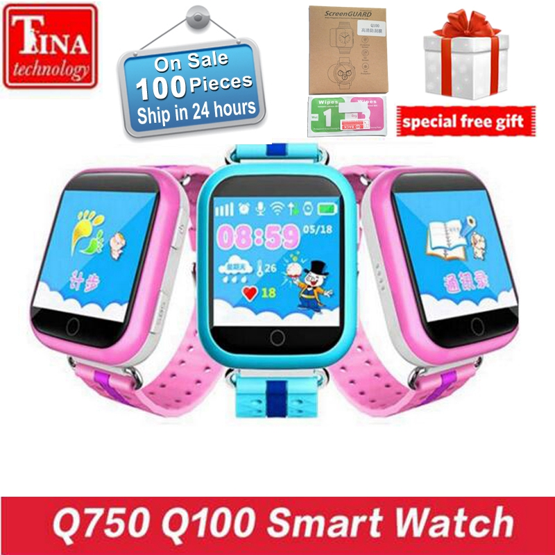 Original GPS Smart Watch Q750 Q100 Baby Smart Watch With 1.54inch Touch Screen SOS Call Location Device <font><b>Tracker</b></font> for Kid Safe