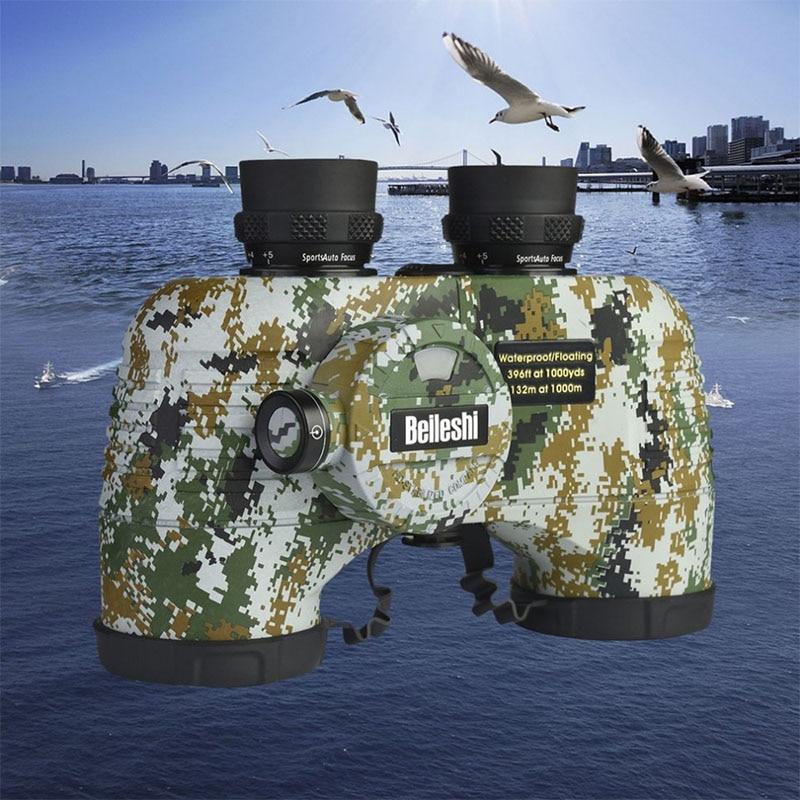 Здесь можно купить  Beileshi Outdoor Portable Floating Military Compass Binocular Waterproof Shock-proof Telescope with Light for Travel Hunting  Спорт и развлечения