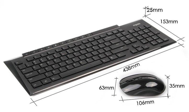 Rapoo 8200P Multimedia Wireless Keyboard Mouse Combo Rapoo 8200P Multimedia Wireless Keyboard Mouse Combo HTB1z1IYOFXXXXXmaFXXq6xXFXXXY