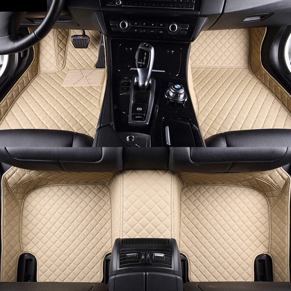Esteiras do assoalho do carro para Toyota Tundra Sequoia 4 Corredor 5D heavy duty all weather tapete do assoalho do carro-styling forros (2008-)