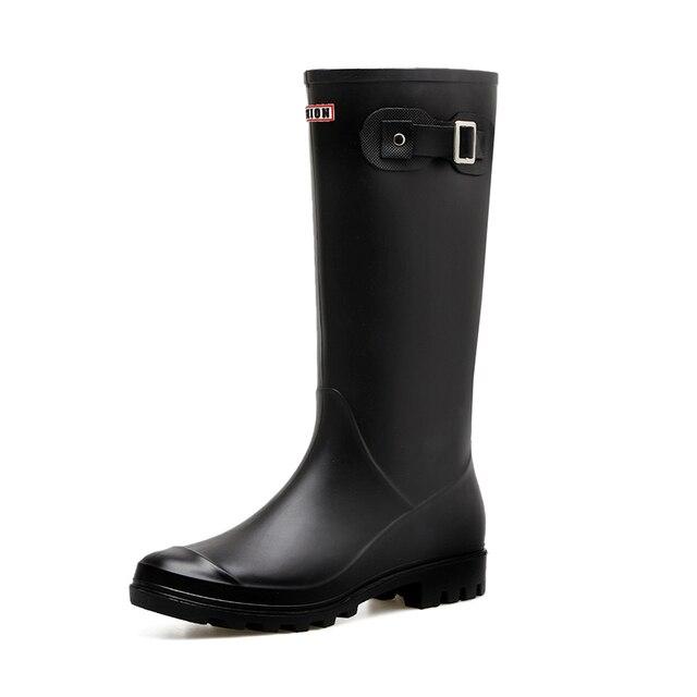 € 28.81 |Botas de lluvia de PVC para mujer, zapatos de goma para chicas, para caza Casual, caza, caza, exterior, media pantorrilla, impermeables,
