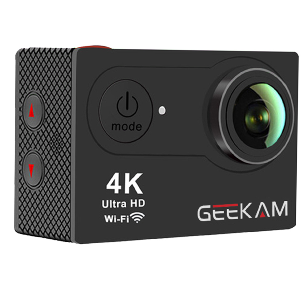 Geekam Digital Sports Camera 4K Underwater WIFI Mini DV Camera Riding Digital Camera ...