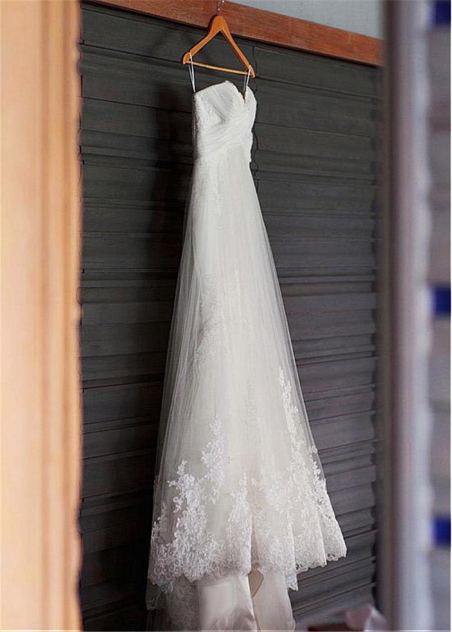 Amazing Tulle Sweetheart Neckline Mermaid Wedding Dresses With Lace Appliques Beach Bridal Dress vestidos festa