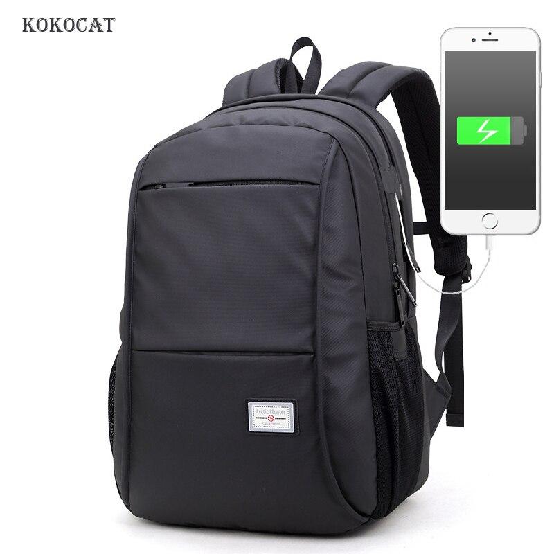 Sac à dos 15.6 pouces ordinateur portable USB charge décontracté école sac à dos hydrofuge sac hommes femmes Anti voleur multifonction cartable