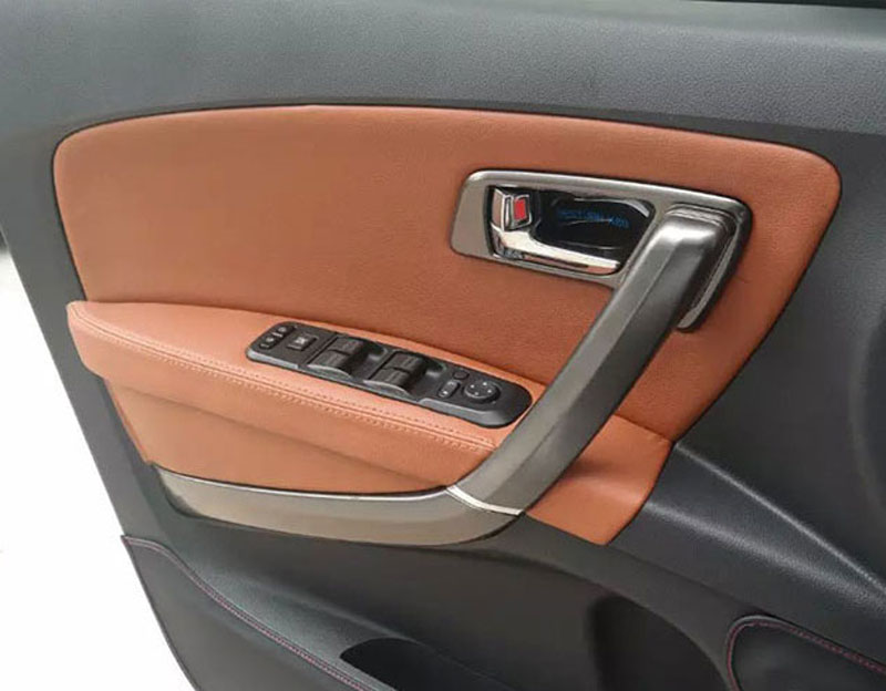 12pcs PU for FAW BESTURN X80 2013 2017 Door plankhandrail decorate cover in Interior Mouldings from Automobiles Motorcycles