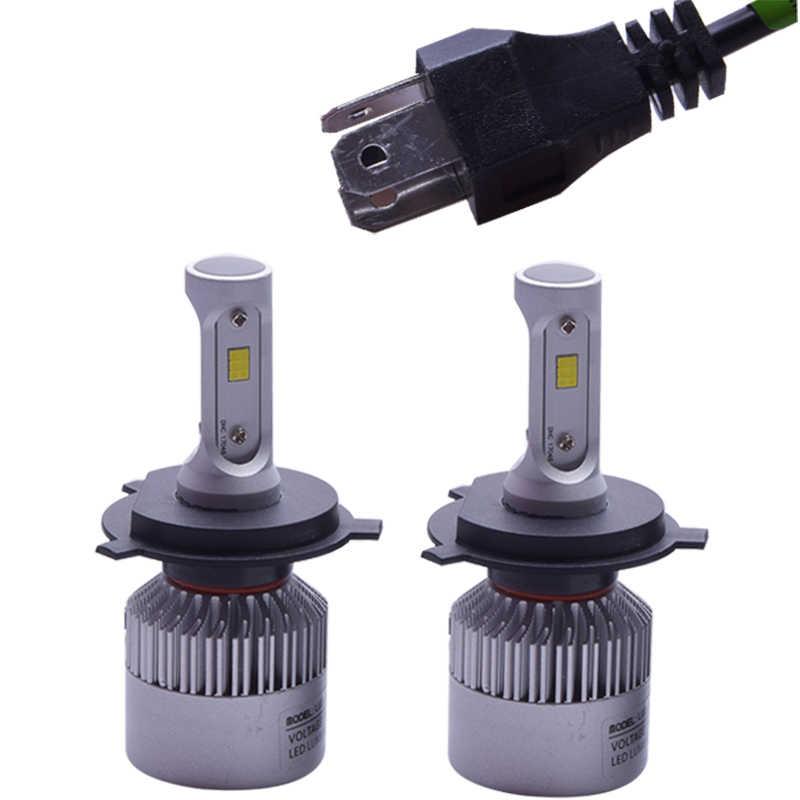 S2 72 W фары для 8000LM/комплект H1 H3 H7 H8 H11 9005 9006 H4 светодиодный фар автомобиля лампы фар ближнего и дальнего света луч в Автомобильная фара в сборе с чипом CSP