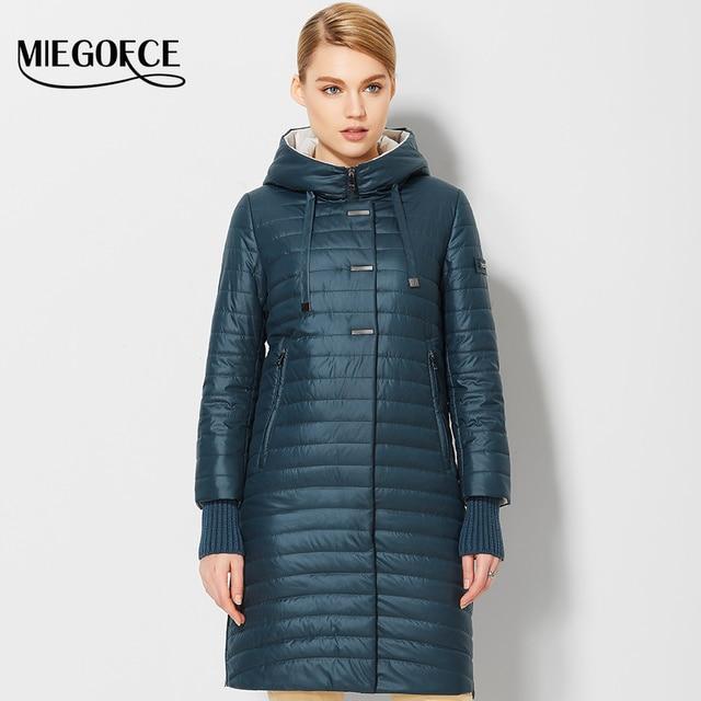 2017пальто женское весенное пальто с капюшном женские модные ветрозащитные парки весенные высококачественные куртки женские куртки MIEGOFCE ходовые товары