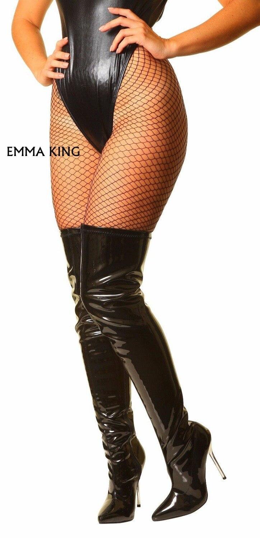Dames Mince Mode Noir De Le Genou Sur Hauts Pointu Sexy Bottes Taille Hiver Mujer Grande Femmes Talons Chaussons rouge 43 35 Chaussures Bout Cuisse qwa70Cx