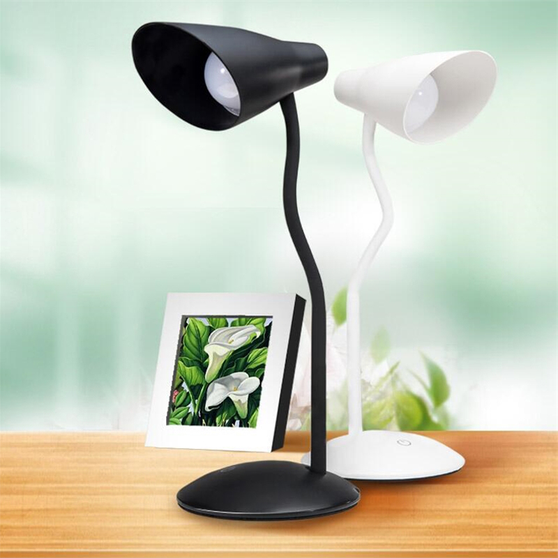 Desk Lamp 3 Level Adjustable Light USB Rechargeable LED Reading Lights Table Lamps For Office Living Room Bedroom Study