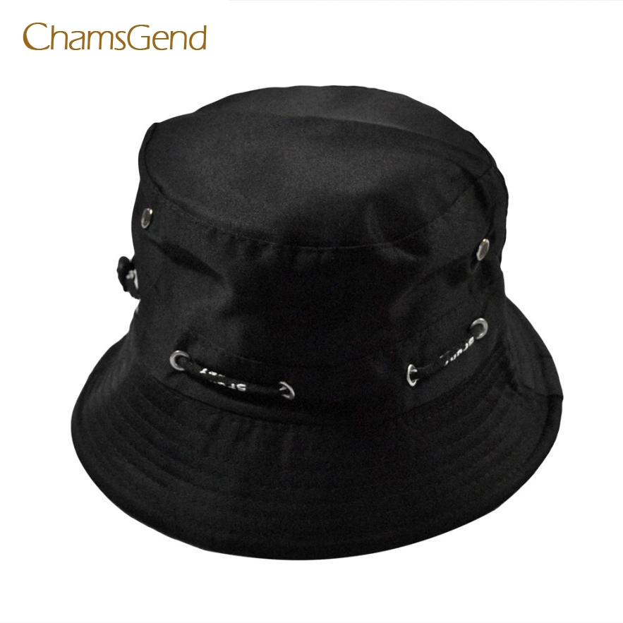 CHAMSGEND 2017 New Fashion Men Women Unisex Cotton Bucket Hat Double Side  Fishing Cap MAY23 291ce446225d