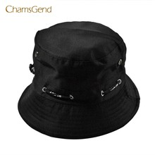 CHAMSGEND 2017 New Fashion Men Women Unisex Cotton Bucket Hat Double Side Fishing Cap MAY23(China)