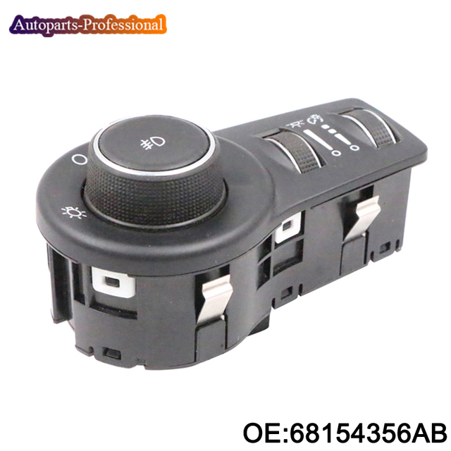 New High Quallity 68154356AB Headlight Headlamp Switch For Jeep Chrysler 68154356AA 68154356AC car accessories