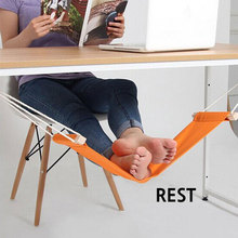 Office Foot Rest Hammock Ourdoor Stand Desk Foot Hammock Easy to Install and Disassemble Orange Color DC01